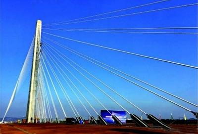 界最宽单塔斜拉桥